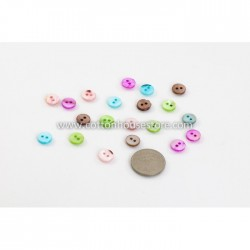Round 2 Holes Shell 10mm (20pcs) BUT-033