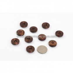 Round Wood Buttons 20mm 10pcs BUT-035