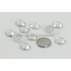 Glass Bead Round Flat Clear 005 (10pcs)