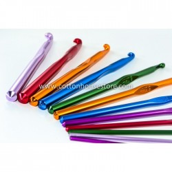 12 Pieces (2.0-8.0mm) Aluminium Crochet Hook Set
