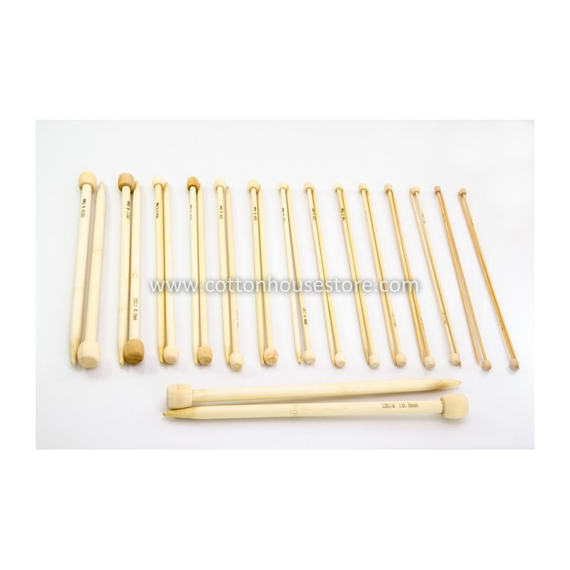 15 Pairs 34cm Bamboo Knitting Needles (LONG) CK-002