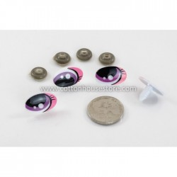 Eyes Big Pink 25mmx16mm (2 pairs)
