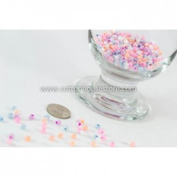 6/0 Mixed Glass Seed Beads Pastel (20gm)