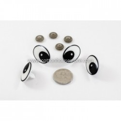 Eyes Big Black White 35mmx24mm (2 pairs)
