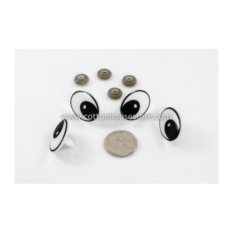 Eyes Big Black White 35mmx24mm