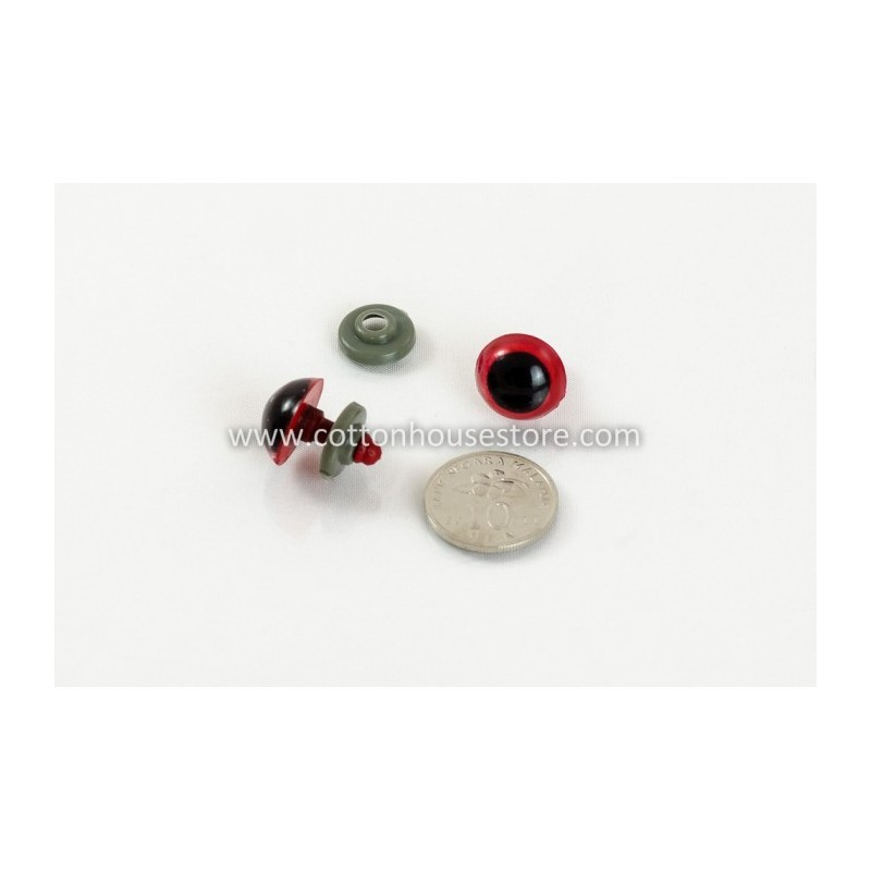 Round Red Eyes 18mm (5 pairs) CK-232