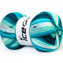 JB Teal Turquoise White 34675