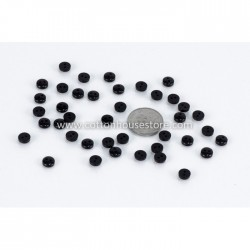Black Resin 6mm 40pcs BUT-062