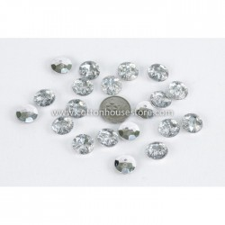 Silver Plated Acrylic 2 Holes 20pcs BUT-070