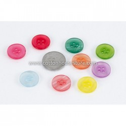Clear Mixed 4 Holes 15mm 20pcs BUT-076