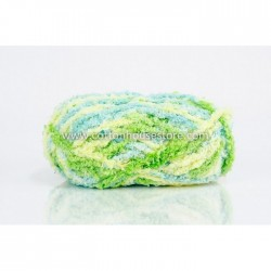 Fluffy Mix Yellow Green Baby Blue A51
