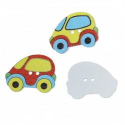 Wood Cars Design 2 (10pcs) BUT-086