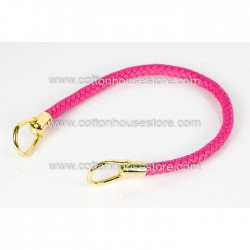 Imitation Leather Handle Bright Pink 072
