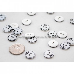 Butterfly Pattern 2 Holes Resin Buttons 13mm (20pcs) BUT-017