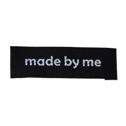 Labels Black 'made by me' 50mm x 15mm (10pcs)