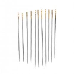 Silver Tone Self-threading Sewing Needles Mixed 0.8mm