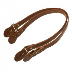 Leather Handbag Replacement Handles Brown 075 (2pcs)