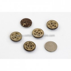Coconut Shell Button World 23mm (5pcs) BUT-029
