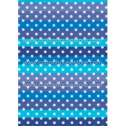 Cotton Fabric 20058 Dots Blue 4m