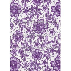 Cotton Fabric 20066 Flowers Purple 4m