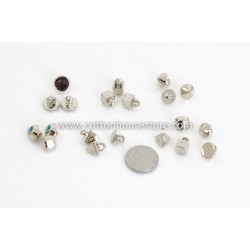 Acrylic Silver Tone Mixed Shape (20pcs)