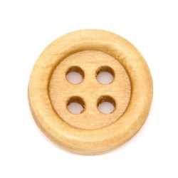 Natural Wood Buttons 15pcs 15mm x 15mm BUT-099