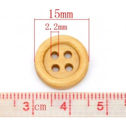 Natural Wood Buttons 15pcs...