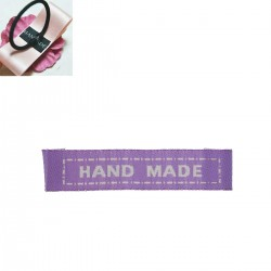 "Labels Purple ""HAND MADE"" 45mm x 10mm (10pcs)"