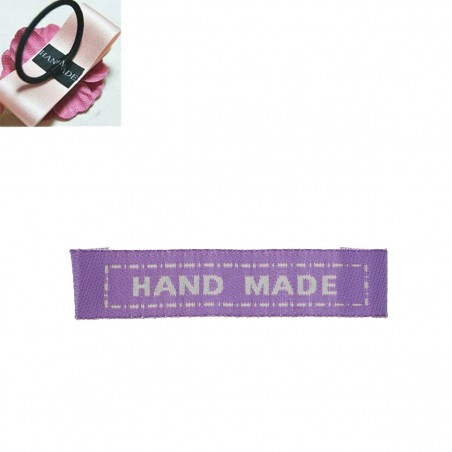 Labels Purple 'HAND MADE' 45mm x 10mm (10pcs)