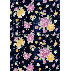 Cotton Fabric 30036-R Flower