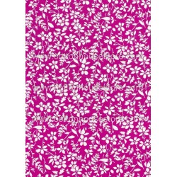 Cotton Fabric 30045-R Flower Fuschia BG