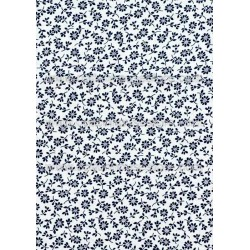 Cotton Fabric 30038-R Flower Darkest Blue
