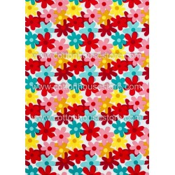 Cotton Fabric 30023-H Flowers 1m