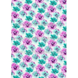 Cotton Fabric 30053-H Flowers 1m