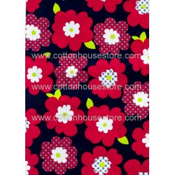 Cotton Fabric 30009-X Flower 1m