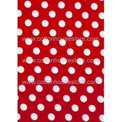 Cotton Fabric 30008-X Dots 15mm 1m