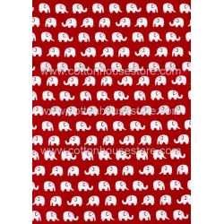Cotton Fabric 30012-X Elephant 18mmx13mm 1m