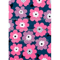 Cotton Fabric 30017-X Flower 80mmx75mm 1m