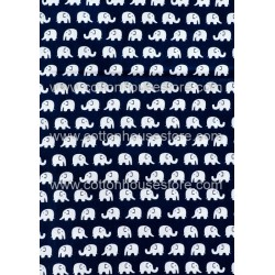 Cotton Fabric 30019-X Elephant 18mmx13mm 1m
