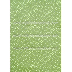 Cotton Fabric 30043-R Stars & Dots 4mm Green 1m