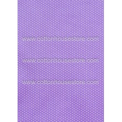 Cotton Fabric 30058-R Dots 1mm Light Purple 1m