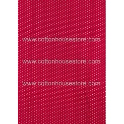 Cotton Fabric 30048-R Dots 1mm Red 1m