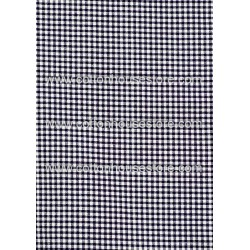 Cotton Fabric 30055-R Blue Black Gingham 1m