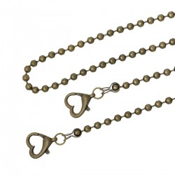 Purse Chain Handle Crossbody Bronze Tone