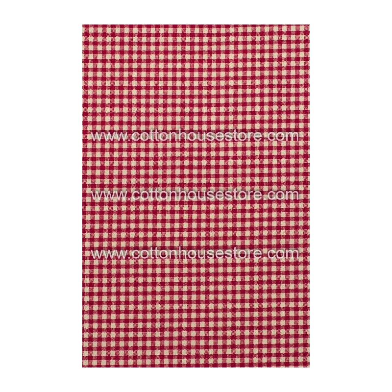 Cotton Fabric 30078-R Red Gingham 1m
