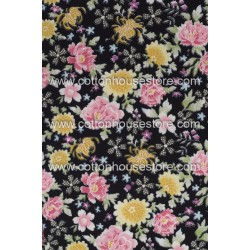 Cotton Fabric 30083-R Flower 1m