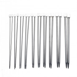 11 Sizes 36cm Stainless Steel Knitting Needles Set (Long) CK-730