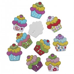 Wood Cupcakes 10pcs BUT-101