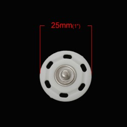 Snap Round Buttons 25mm 2 sets (4pcs)