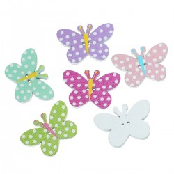 Wood Butterfly 10pcs BUT-104